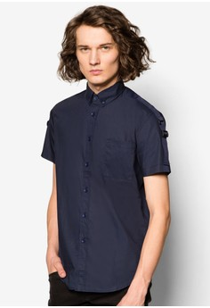 Short Sleeve Shirt With Webbing Patch On