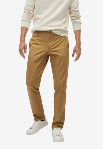 Mango Man brown Slim Fit Serge Chino Trousers 5815EAA32422F8GS_1