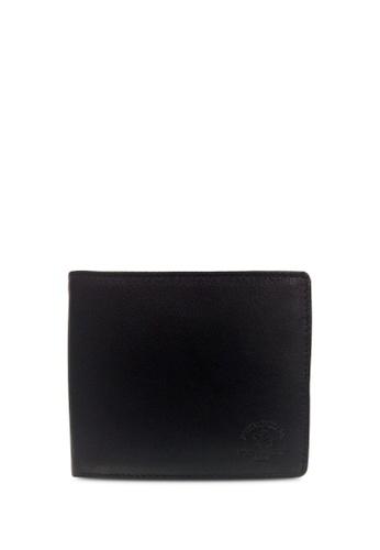 Santa Barbara Polo & Racquet black Santa Barbara Polo & Racquet Club Leather Bifold Wallet A0100ACE52D820GS_1