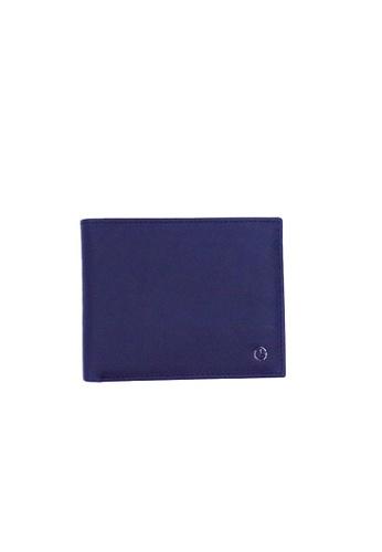 Goldlion blue Goldlion Men Leather Wallet (8 Cards Slot) - Black with Inner Gray 29F56AC0FB12B8GS_1