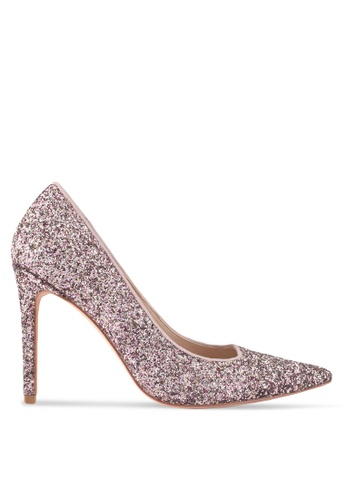 ZALORA pink Glitter High Heels A722ASH513AEAFGS_1