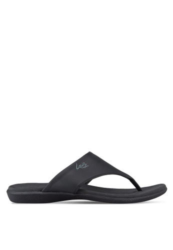 Louis Cuppers black Casual Sandals LO977SH23RDKMY_1