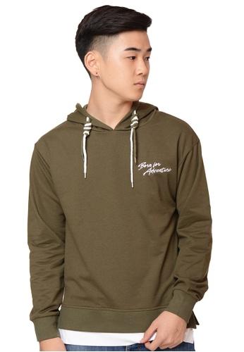 Praise green Hoodie Jacket PR067AA0H9TBSG_1
