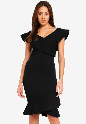 Forever New black Amber Frill Dress 52E27AA1E4BDB2GS_1