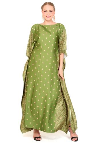 Kanzi by liza yahya green Kanzi Exclusive Short Sleeve Songket Kaftan F6F59AAA7163E6GS_1