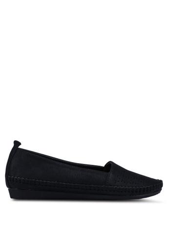 Bata 黑色 雕紋樂福鞋 70E7DSH04B0E10GS_1