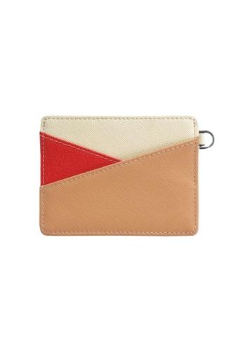 Klosh orange Genuine Leather RFID Card Case (Tan and Ruby Orange) 9DFA4AC3A5D3B6GS_1