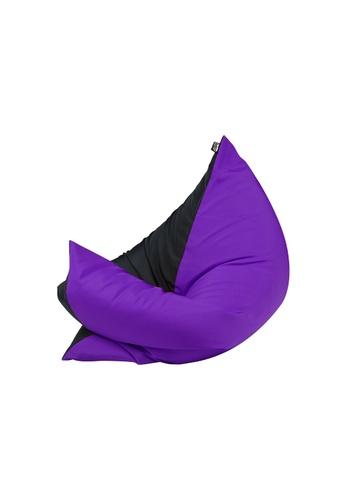 doob black and purple and multi PLOPSTA' - versatile spill-proof doob bean bag (Chilled Grape) CF4A6HLC88848EGS_1