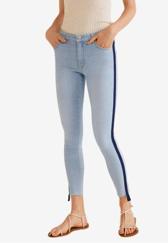 Mango blue Cropped Skinny Jeans 27575AA6288BDDGS_1
