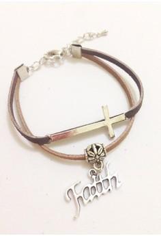 Cross Faith Suede Bracelet