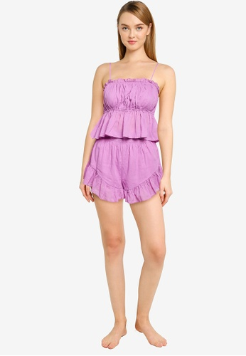 Cotton On Body purple Woven Cami And Shorts Set 77626AA71C7D4DGS_1