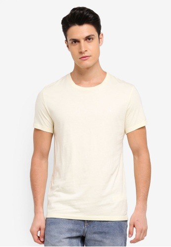 Jack Wills yellow Sandleford T-Shirt 8185EAA0FE4660GS_1