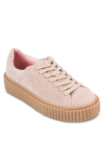 Creeper 厚底布料運動鞋, 女鞋esprit holdings, 鞋