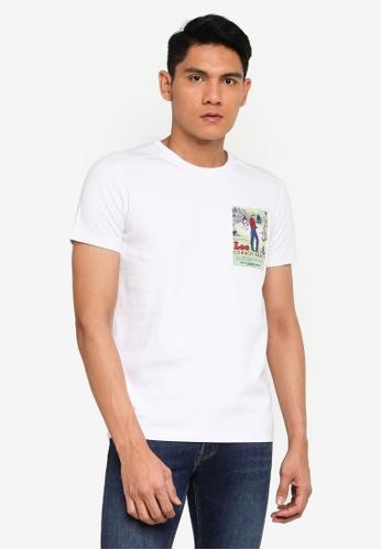Lee white Poster Short Sleeve T-Shirt 728BBAA8003F49GS_1