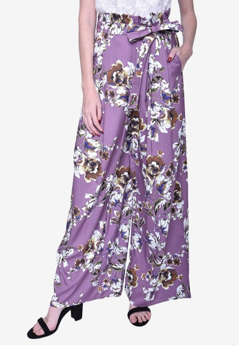 Caoros purple Tropical Culottes 72300AA0B5EA23GS_1