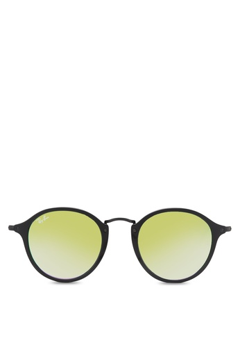 Ray-Ban black Round Fleck RB2447 Sunglasses RA896GL79ZRSMY_1