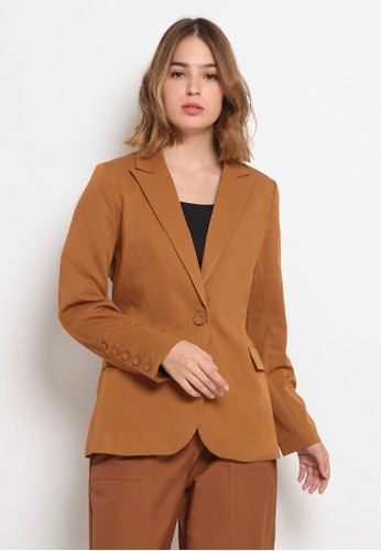 The Executive brown Regular Fit Blazer 6088CAA59B706EGS_1