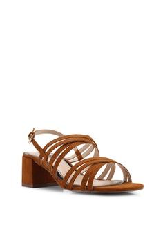 2007dcfaf7d Miss Selfridge Tan Multi Strap Block Heeled Sandals S  76.90. Sizes 3 4 5 6