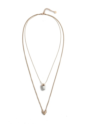 My Flash Trash gold Howlite Pendant Necklace 90B8AAC706DCD1GS_1