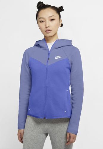 Nike purple Women's Sportswear Windrunner Tech Fleece Hoodie 88ACEAAA0FBF4BGS_1