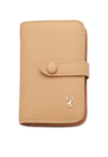 PLAYBOY BUNNY beige Women's Bi Fold Purse / Bi Fold Wallet 2EF4CAC5B467B8GS_1
