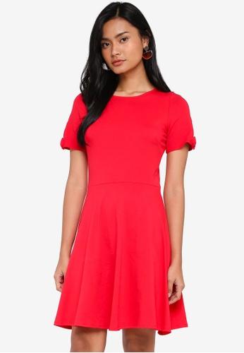 2d2b2665f3aa Buy Dorothy Perkins Red Bow Sleeve Skater Dress