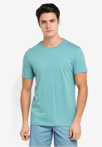Burton Menswear London 綠色 Jade Green Crew Neck T-Shirt BU964AA0T1H6MY_1