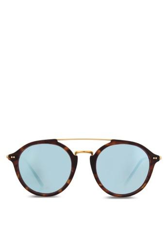 Fitzrosalon esprit 香港y 玳瑁反光太陽眼鏡, 飾品配件, 飾品配件