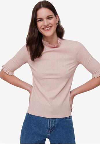 OVS pink Fine-Rib Lurex Knit Top AF1A3AAA106CA2GS_1