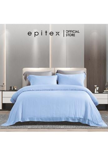 Epitex blue Epitex XH5813 Tencel 1000TC Printed Bedsheet - Fitted Sheet Set - Bedding Set (w/o quilt cover) - Arctic Blue 00113HLF841486GS_1
