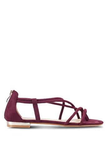 ZALORA red Strappy Sandals 00E47SHEC16C56GS_1