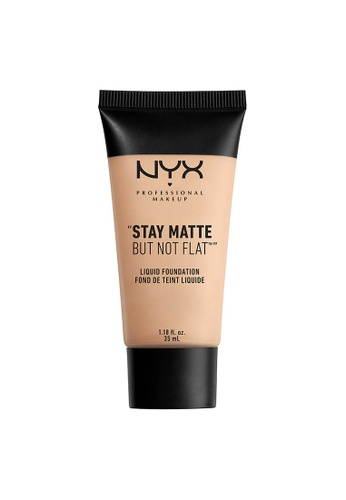 NYX Professional Makeup beige NYX Professional Makeup Stay Matte But Not Flat Liquid Foundation - LIGHT BEIGE 89535BE035B17AGS_1