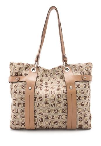 Salvatore Ferragamo brown Pre-Owned Salvatore Ferragamo Monogram Tote Bag 57573ACD4E4A89GS_1