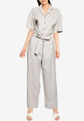 LOWRYS FARM grey Woven Jumpsuit 9C701AABF9D09CGS_1