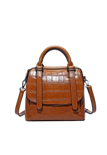 Lara brown Women's Top-Handle Front Flap Bag 029B2AC85A79A6GS_1