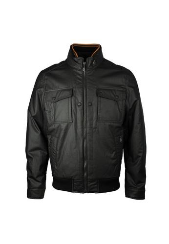 Hogan black Hogan Zip Fornt With Zip Pocket Jacket in Black 6DFCAAAC3143CBGS_1