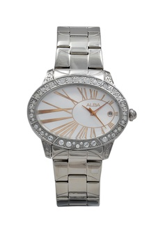 ALBA Jam Tangan Wanita - Silver Rosegold - Stainless Steel - AXT313 5B516AC67C13FEGS_1