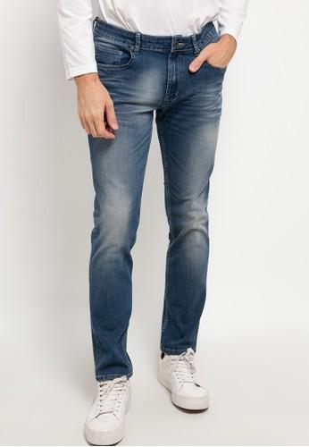 Jimmy Martin blue Slim Comfort Stretch Denim Pants 0C0B5AA49864BFGS_1