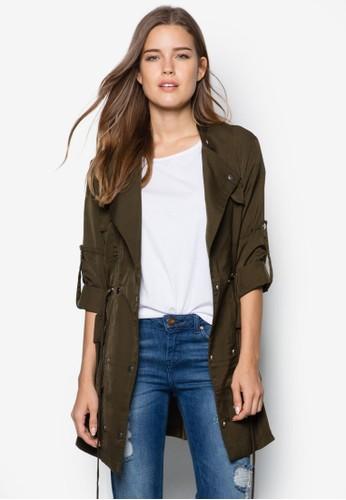 Love 多口袋長版外套, 服飾, 防風外套 &aesprit門市地址mp; 罩衫