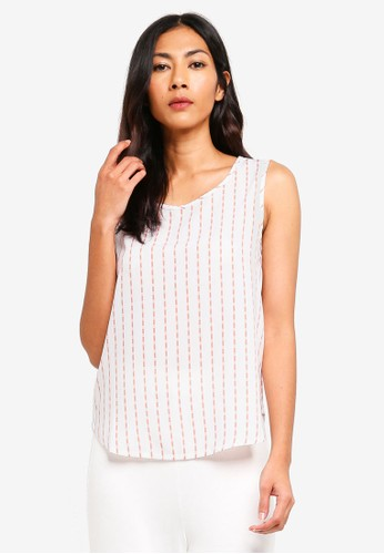 ZALORA BASICS white and pink Basic Shell Top CCE2FAA3F71579GS_1