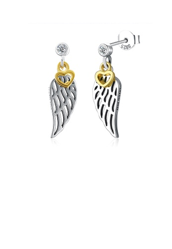 Glamorousky white 925 Sterling Silver Wing Earrings with Cubic Zircon 9BE12AC3B5F28AGS_1
