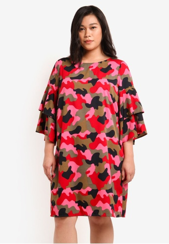 Junarose pink Plus Size Liw 3/4 Sleeve Above Knee Dress JU731AA0S49IMY_1