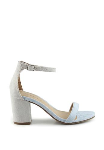 London Rag blue Hailey Heel Sandals AF9E6SH7B95B36GS_1