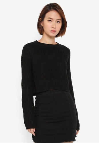 Supre black The Harper Knit Sweater 587E2AAEC6AF8DGS_1