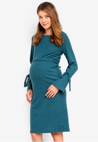 Mama.licious green Maternity Knit Dress B8A58AA3F8C29BGS_1