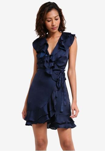 Bardot navy Layered Frill Dress BA332AA0ST9AMY_1