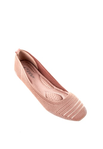 Otto pink Stripe Knitted Flats 24EF8SH312202FGS_1