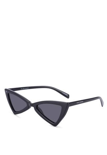 Privé Revaux 黑色 貓眼太陽眼鏡 85285GLB60809DGS_1