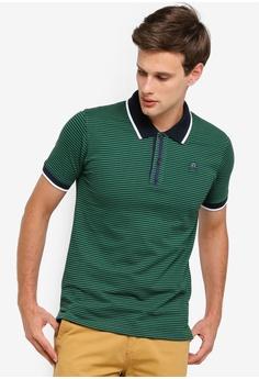 ac1c833250b Volkswagen green Striped Polo Shirt 47887AABBDE685GS 1