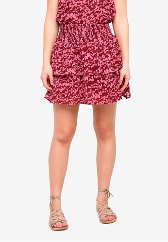 ICHI red Ellin Skirt B3EC4AAB7365CFGS_1